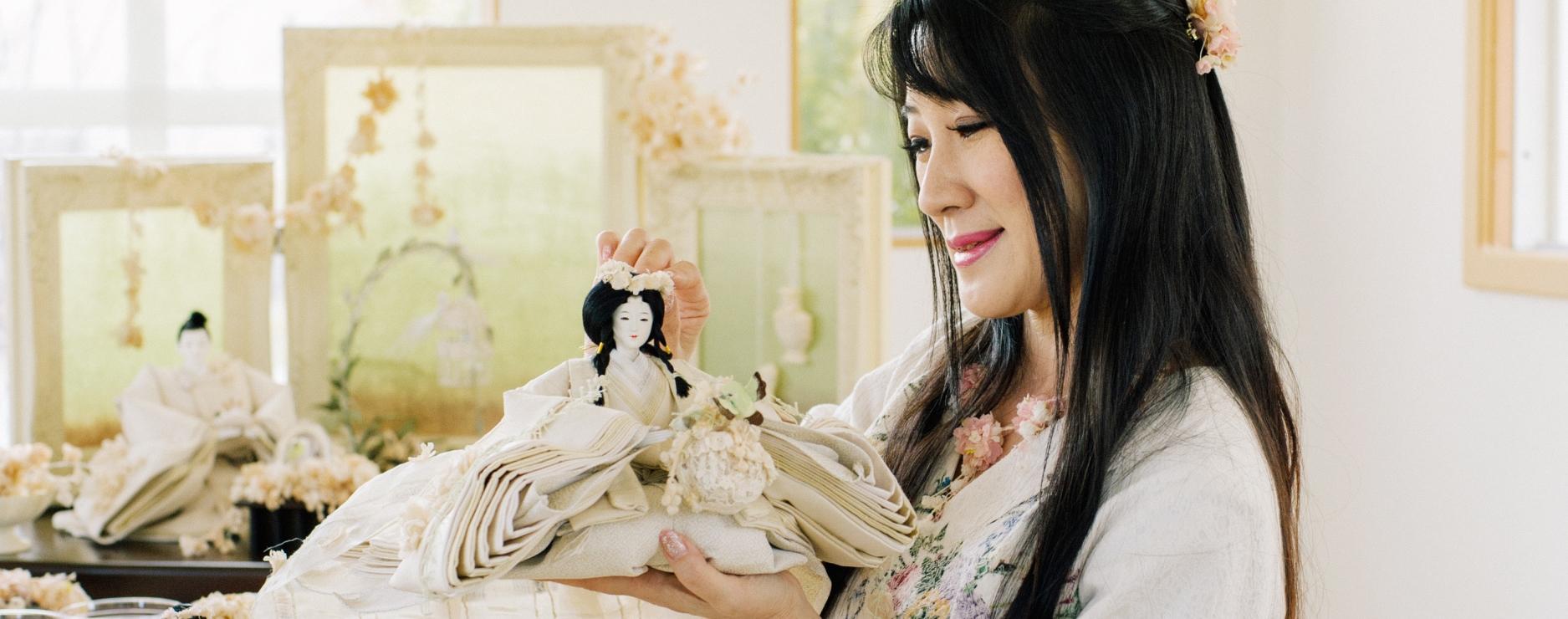 市内にアトリエを持ち、今、全国的に注目される人形作家。