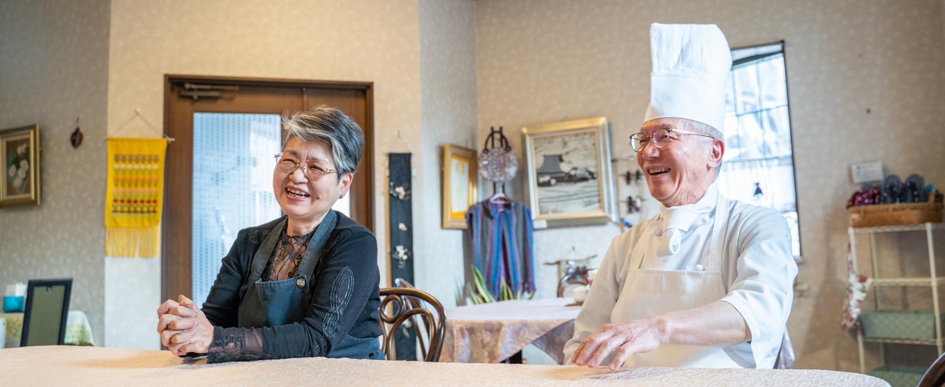 二人三脚で営む、心温まるまちのレストラン。